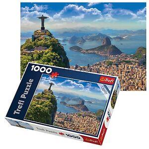Trefl-1000-Pezzi-Per-Adulti-Grandi-RIO-DE-JANEIRO-REDENTORE-STATUA-PUZZLE-NUOVO