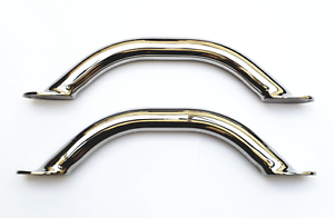 Pair of 220mm 316 Stainless Steel Boat Grab Rails//Handles Highly Polished
