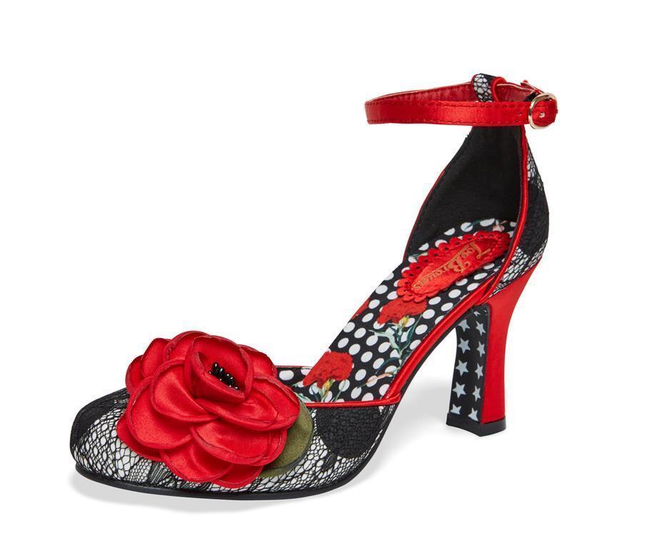 Joe-Brauns-Quirky Vintage Retro Style Mid Heel Sandales & Bag A1775/970