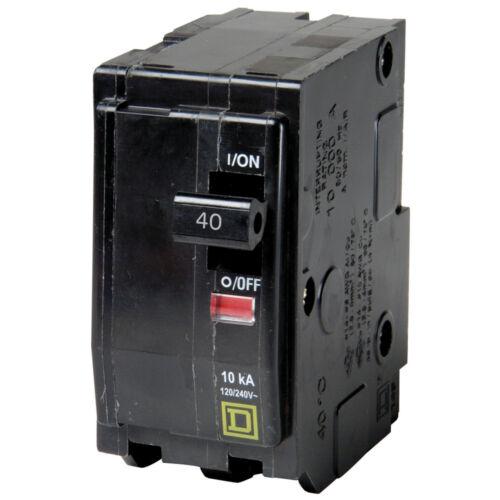 Square D Circuit Breaker 40A Type QO # QO240 NEW