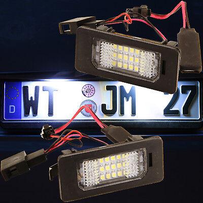 Set LED Kennzeichenbeleuchtung Skoda Fabia II 5J Superb 3T Yeti  LD-ADP