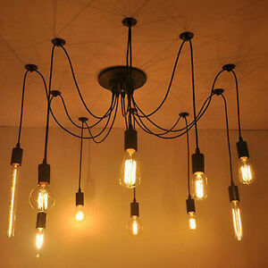 steampunk lighting. Image Is Loading Vintage-Edison-Industrial-Steampunk-Light -Loft-Chandelier-Ceiling- Steampunk Lighting