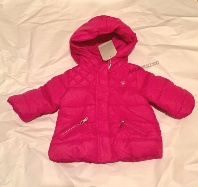 028ad19850a1 Zara Baby Girls  Quilted Jacket With Hood Hot Pink 3-6 Months for ...