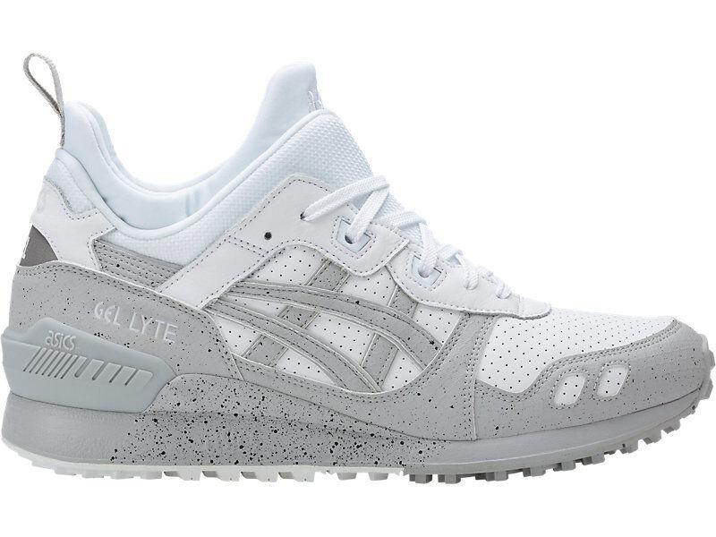 Asics Gel-Lyte MT White Off-White Grey Trail Running Shoes SZ 8.5 ( H7Y4L-0196 )