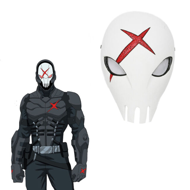 Cool Titans Cosplay Mask Red X Skull Helmet Costume Props Halloween Comics  Adult