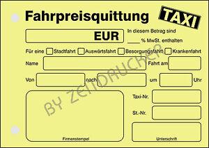 Taxi Fahrpreis Berechnen : taxi quittung taxi fahrpreis quittung 50 blatt din a6 block gelb ebay ~ Themetempest.com Abrechnung