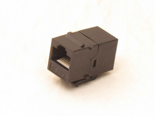 100 pcs Lot CAT6 Inline RJ45 Keystone Wall Coupler Jack Adapter 8P8C Black 6e