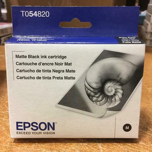 Epson T054820 Matte Black Standard Capacity Printer Ink Cartridge EXP 12/2018