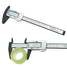 "150mm 6"" LCD Vernier Caliper Digital Electronic Carbon Fiber Micrometer Gauge"