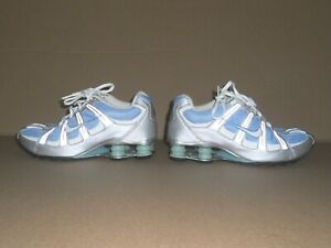 NIKE-Shox-Blue-Gray-Training-Shoes-Womens-Sz-8-UK-5-5