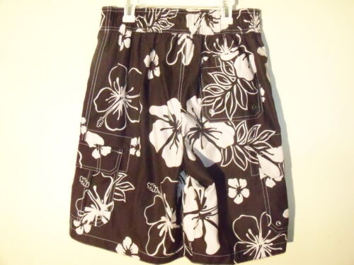 Merona Men/'s Board Shorts Brown White floral  NEW NWT
