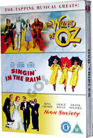Musicals Collection Boxset 3 DVD 1950s films Wizard Of Oz Singing In The Rain
