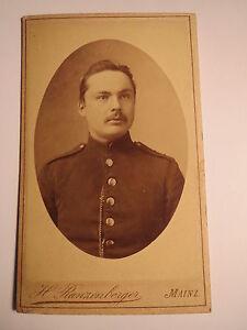 Mayence-soldat En Uniforme-portrait/cdv-afficher Le Titre D'origine