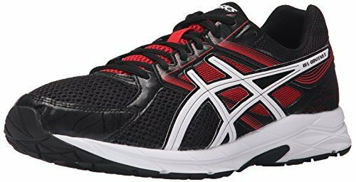 ASICS Men's Gel-Contend 3-M, Onyx Snow Racing Red 8 M US