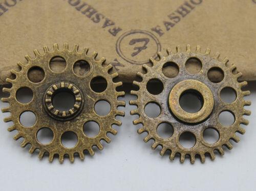 15//30pcs Retro style gear Charm Pendant DIY Jewellery crafts 26x26mm