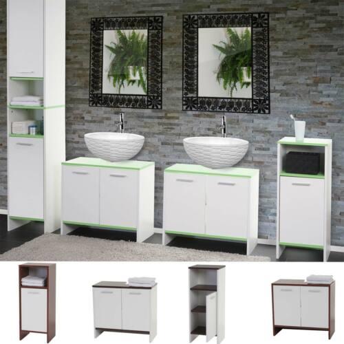 Waschbeckenunterschrank Hochschrank Kommode Badezimmer Set Arezzo