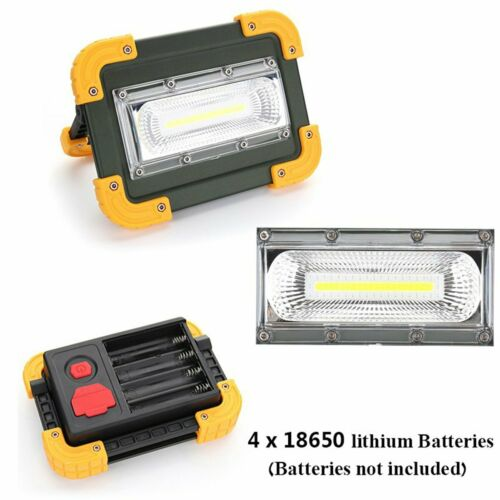 USB COB LED Portable Rechargeable Flood Light Work Camping Outdoor Lamp 4 Mode