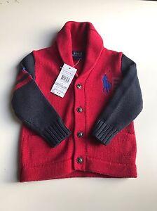 ac69268d3 Polo Ralph Lauren Genuine Boys Designer shawl collar knitted Jumper ...