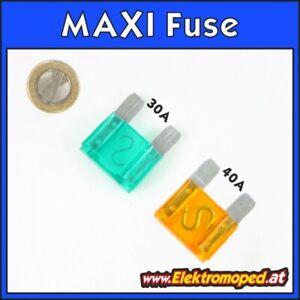 Ersatzteil Elektro-Scooter MAXI FUSE Sicherung 30A 40A Maxi-Fuse Sicherungsboxd