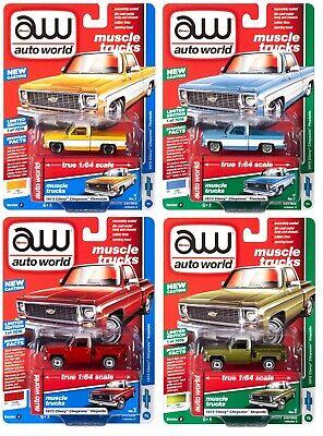 1973 /'73 CHEVY CHEYENNE STEPSIDE V//A MUSCLE TRUCKS AW AUTO WORLD DIECAST 2019
