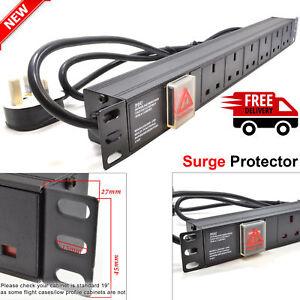 6-Way-13A-PDU-Power-Distribution-Extension-Unit-Horizontal-19-034-Rack-Mount-Switch
