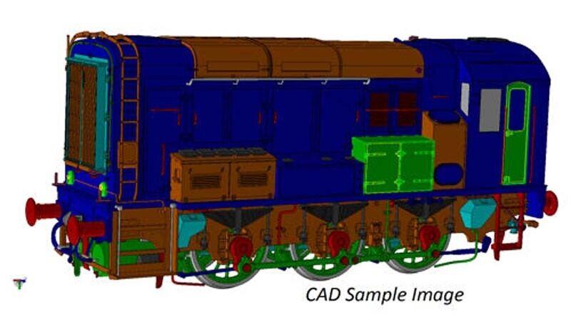 Dapol classe 08 BR blu Unnumberosso O Gauge DA7D008013U