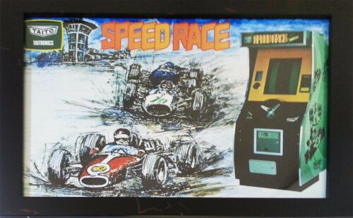 Speed Race Framed Back-lit Reproduction Poster Photo Print 15.5 x 20 Inch