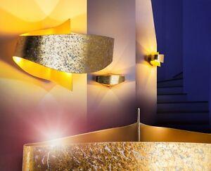 Applique lampe murale spot doré design lampe de séjour lampe de