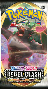 Pokemon SWORD AND SHIELD Rebel Clash Booster Pack New Sealed 1x Booster Pack
