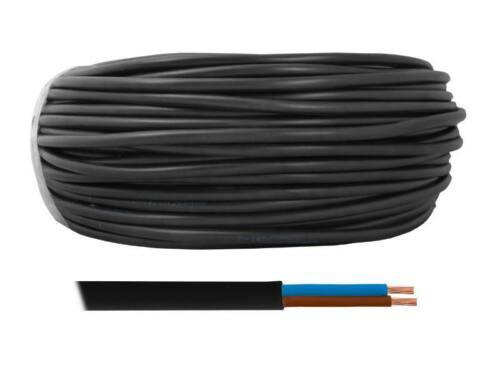 Schlauchleitung Stromleitung 20m OMY 2 x 1,50 mm² 300//300V Schwarz