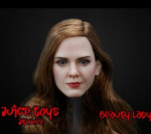 1/6 Emma Watson Head Sculpt 4.0 Beauty and The Beast For Hot Toys Phicen ❶USA❶