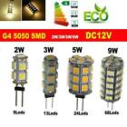 G4 9/13/24/68 SMD Pure/Warm White 1210/5050 LED Bulb Caravan Car CamperTent Lamp