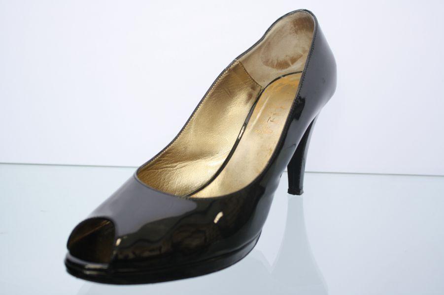 Evita Pumps schwarz Lackleder Schuhweite G Gr. 41