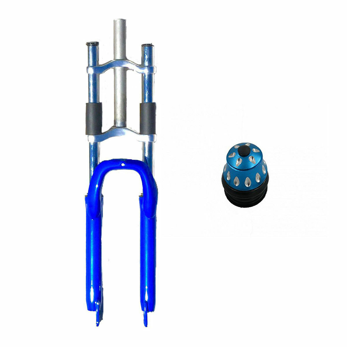 CDHPOWERBicycle bluee fork 26  Combo - triple tree suspension fork and a headset