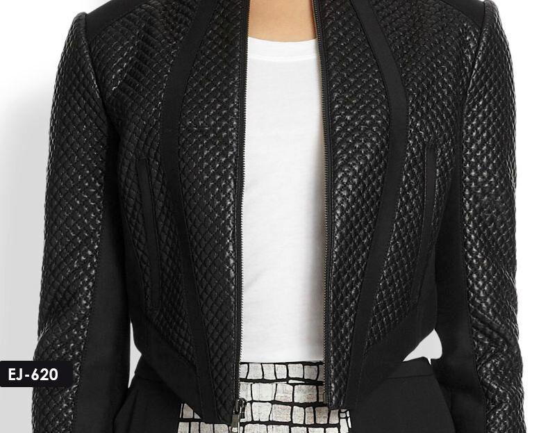 Original suave piel de cordero Recortada  chaqueta acolchada  comprar ahora