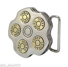 ` Spinning `Revolver Cylinder Bullet Belt Buckle police Old west Style