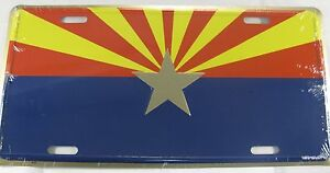 ARIZONA-FLAG-METAL-LICENSE-PLATE-AZ-STATE-SIGN-L216