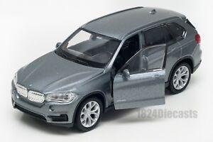 BMW-X5-Gris-Welly-Escala-1-34-39-Modelo-del-Coche-de-Juguete-Regalo