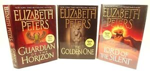 3-signed-1st-edition-Elizabeth-Peters-books-Golden-One-Lord-Silent-Guardian