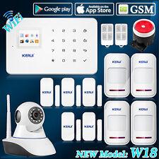 IP Camera,KERUI W18 WIFI GSM Home Security Alarm System Door Sensor Detector Kit