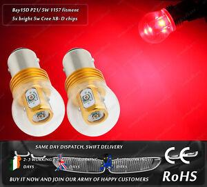 Cree-LED-BAY15D-1157-380-P21-5W-Red-Rear-Tail-Brake-Stop-Light-Bulbs-12v-24v