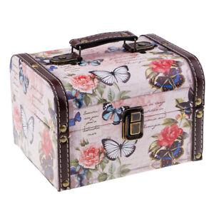 Retro-Wooden-Jewelry-Storage-Box-Treasure-Chest-Organizer-Home-Decor-Rose