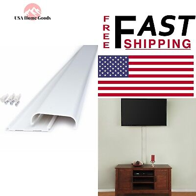 Home Commercial Electric Flat Screen TV Cord Cover Wall Mount TV Cable Concealer