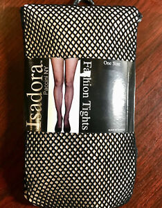 Isadora-Paccini-NY-Fishnet-FASHION-Black-Tights-ONE-Size