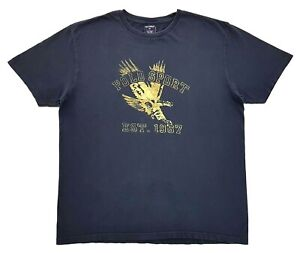 Vintage-Ralph-Lauren-Polo-Sport-College-Eagle-Tee-Navy-Blue-Size-L-Mens-T-Shirt