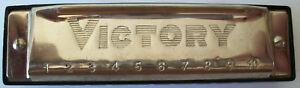 Angemessen Mundharmonika Von Victory Länge: 10 Cm Gut Erhalten Elegant Im Geruch