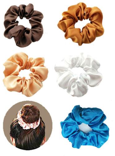 Elasticated Satin Ballet Dance Gymnastic Hair Scrunchies 18 Colours Size 9cm 1pc