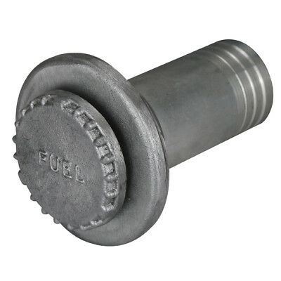 """1-1//2/"""" UNF Deck Filler Cap Base /& Tail  Alloy Weld on 38mm hose size Fuel Marked"""