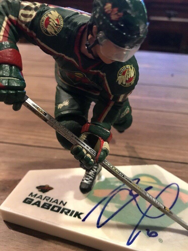 Signed Marian Gaborik Gaborik Gaborik Mcfarlane  NHL  Series 7 Variant Figure Autograph 9ed470