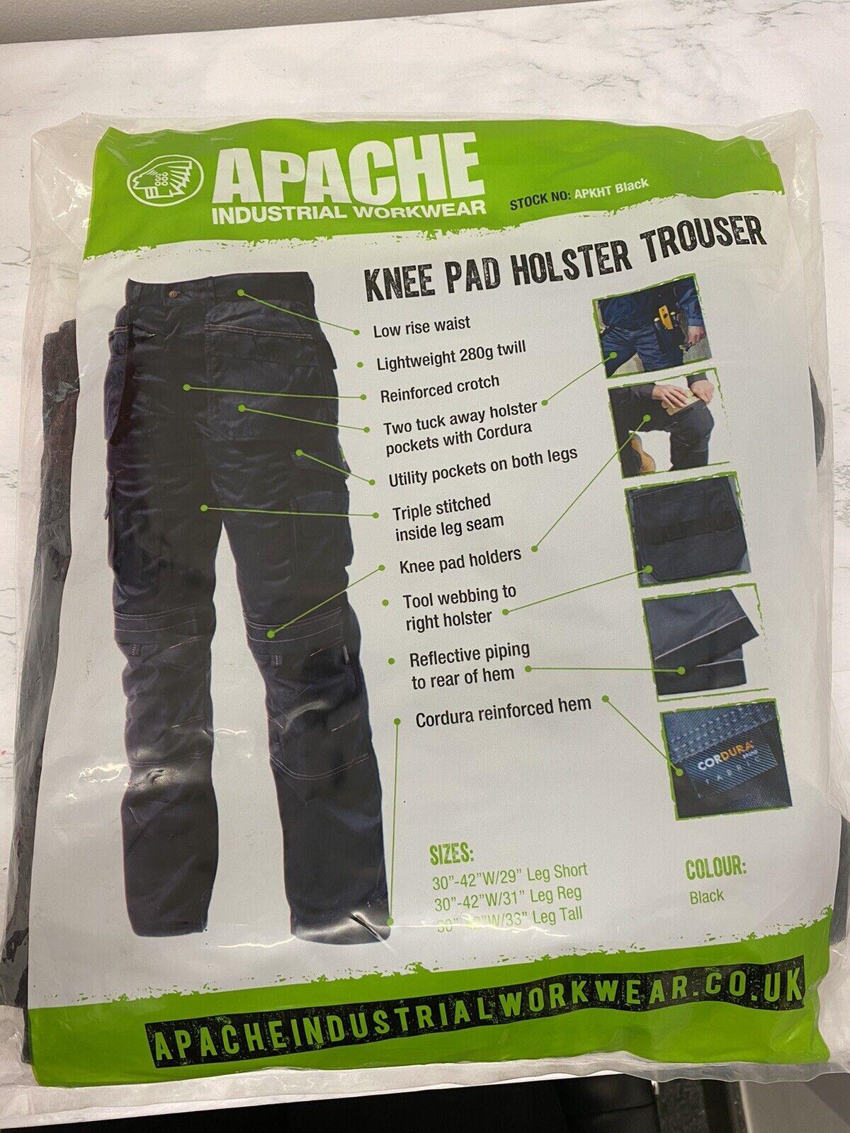 Apache Knee Pad Holster Black Trouser Size W40/L31 #23